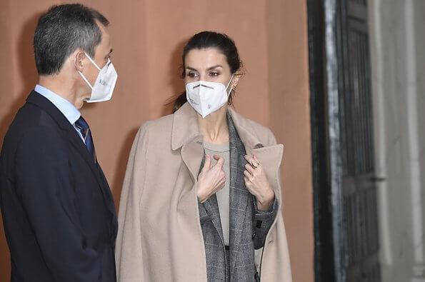 Hugo Boss jalorra glen check double breasted wool Prince of Wales blazer print. Felipe Varela camel cashmere coat