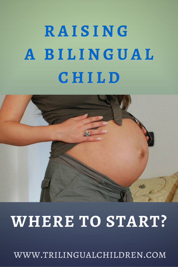 Woman expecting bilingual child