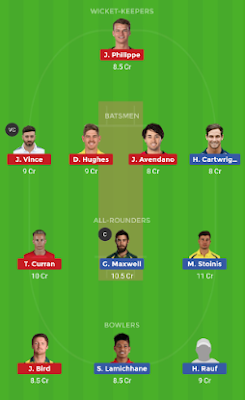 SIX vs STA dream 11 team | STA vs SIX