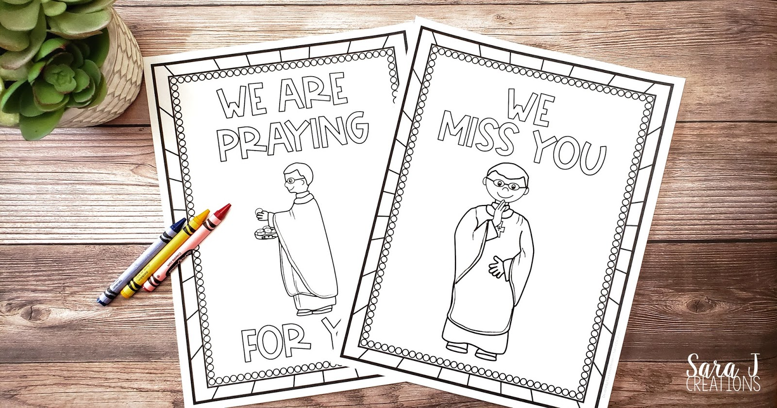 Uplift your Catholic priests with these free printable thank you cards. Perfect for having children show their priest how much they care!