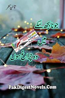 Jo Na Bhuj Sake Mein Woh Chirag Hun Novel By Tania Sehar Pdf Download