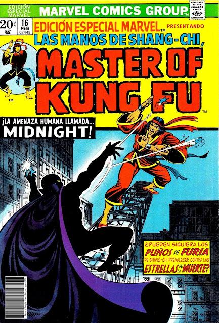 Portada de Master of Kung Fu Nº 16 traducido