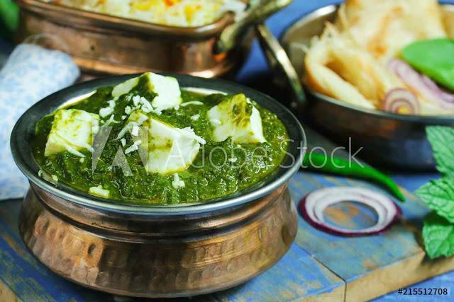 recipe of palak paneer in hindi