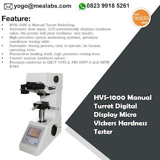 Alat Uji Kekerasan Vickers HVS-1000A