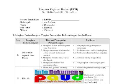 download contoh rkm dan rkh paud semester 1 Kurikulum 2013