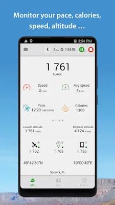 تحميل تطبيق لقياس الارتفاعات بشكل دقيق Altimeter Premium للاندرويد مجانا