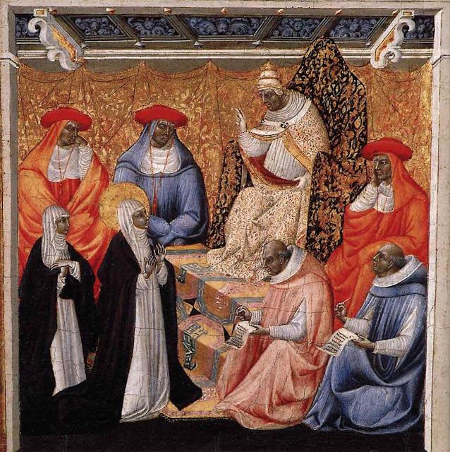 Santa Catarina de Siena diante do Papa de Avignon