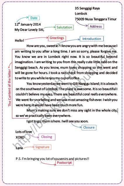Materi dan Contoh Personal Letter Kelas XI Jagoan Bahasa Inggris