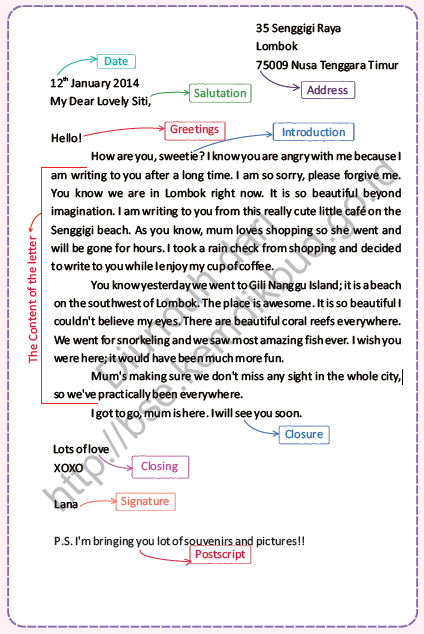 Materi dan Contoh Personal Letter Kelas XI Materi dan Contoh Personal Letter Kelas XI