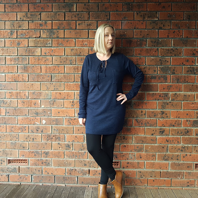 ALDI merino tunic, tights and ankle boots | Almost Posh