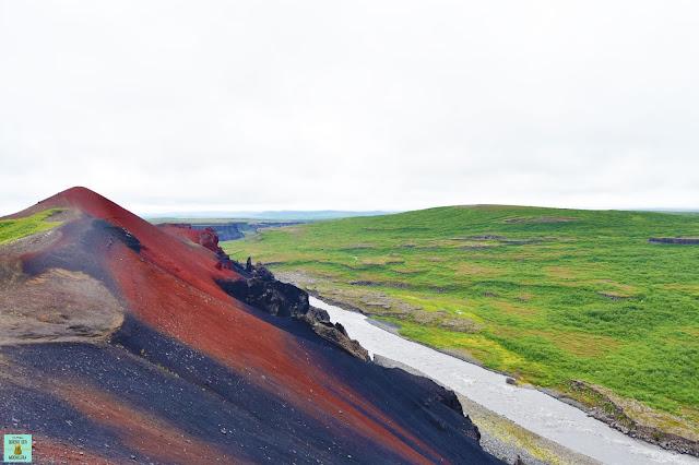Volcán Raúdholar en Vesturdalur, Islandia