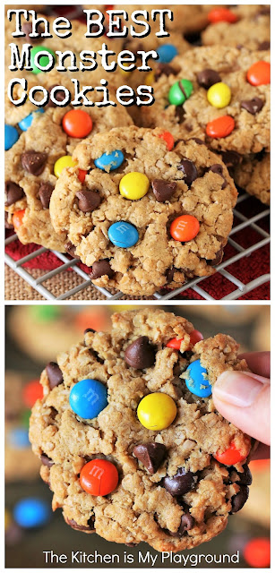 How to Make the BEST Monster Cookies ~ Loaded with peanut butter, oats, chocolate chips and M&Ms, Monster Cookies are a classic favorite. We tested 5 key variables to figure out how to make the BEST Monster Cookies around. -- And believe me, these super tasty beauties do not disappoint.  www.thekitchenismyplayground.com
