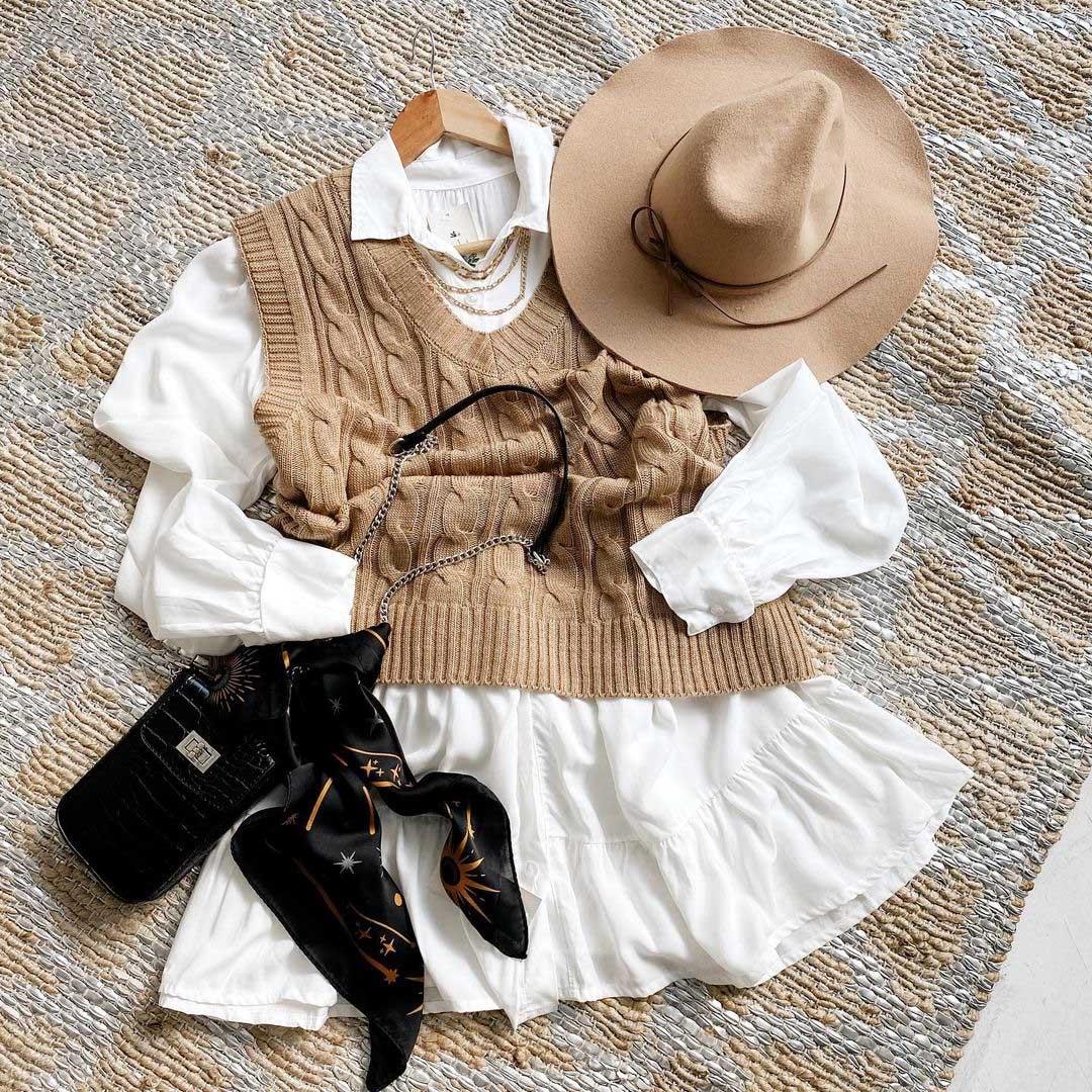 chalecos y camisas invierno 2021 moda mujer