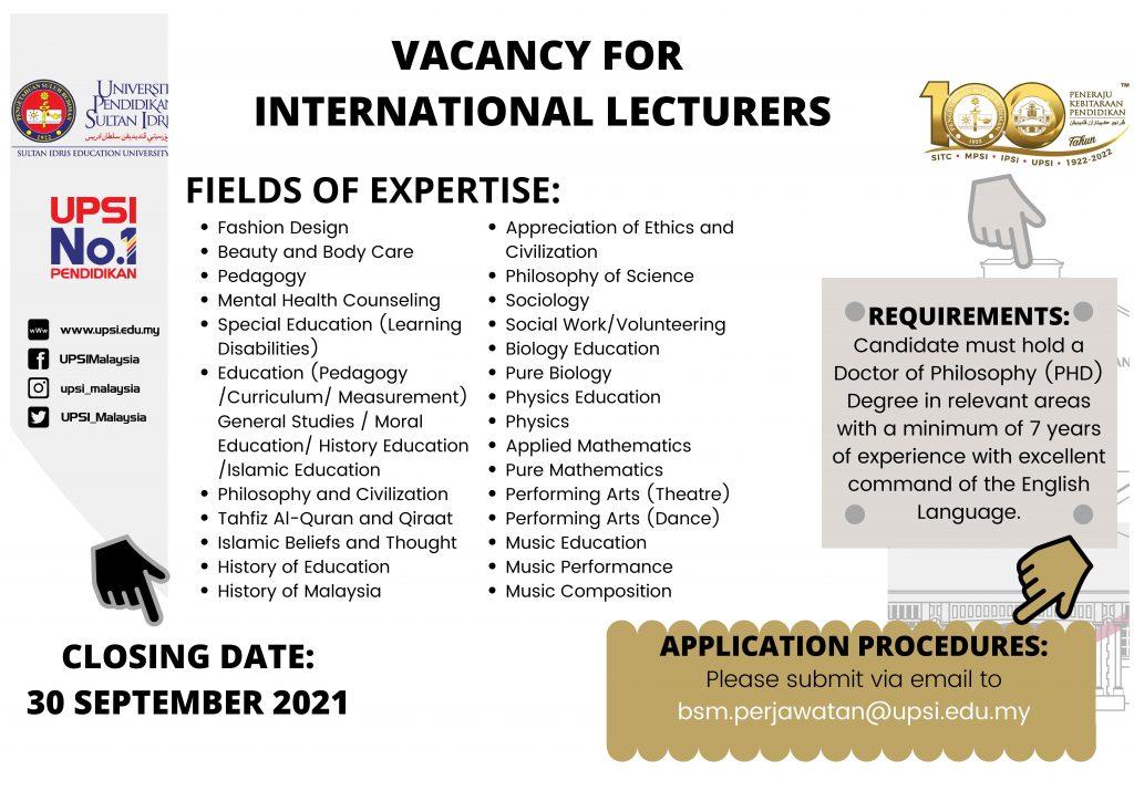 International Lecturers UPSI
