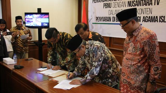 Tangkal Isu Sesat Menyesatkan, PBNU Gandeng Nusantara TV