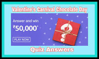 Amazon Valentines Carnival Chocolate Day Quiz Answers