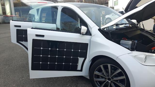 Elektroauto der Zukunft dank Solarpaneele