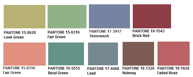 Pantone Resilience Palette Symbolizes A Collection Of Robust Hues That Work Well Together It Speaks Hand Modeled Materials In An Assemblage