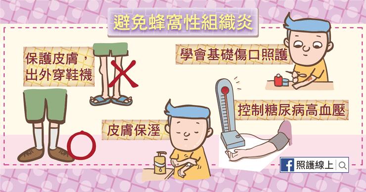 預防蜂窩性組織炎