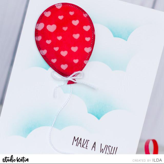 Balloon Birthday Cards for Studio Katia by ilovedoingallthingscrafty.com