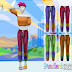 F Gradient Cropped Pants