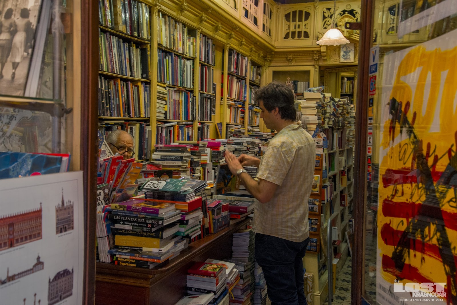 Old book store in Barcelona