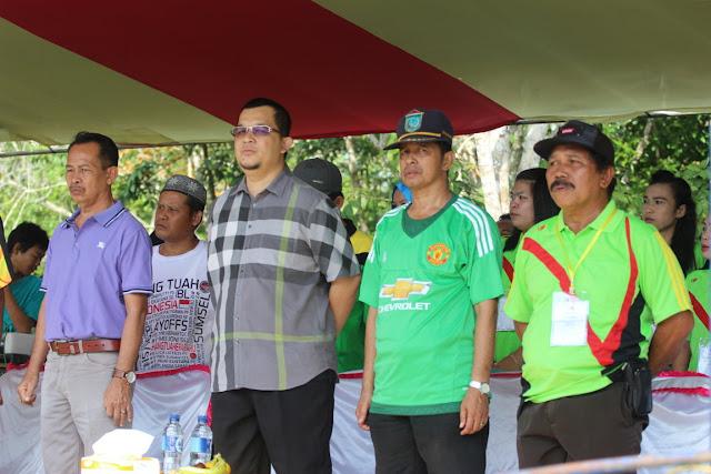 Presiden Sumsel Super League, Hendri Zainuddin, ketika membuka Payaraman Super League di Kabupaten Ogan Ilir