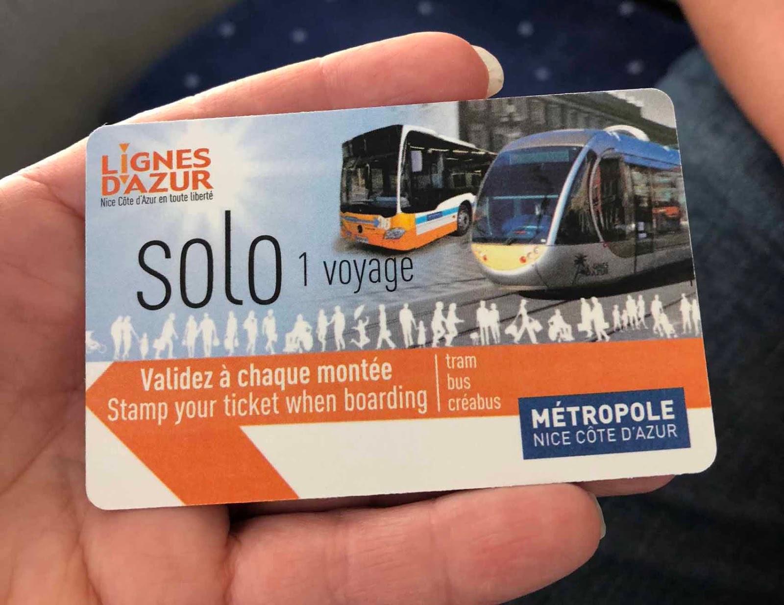 Bussilippu Nizzan paikallisbusseihin