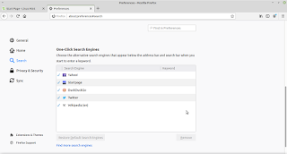 menamahkan google search engine di linux mint