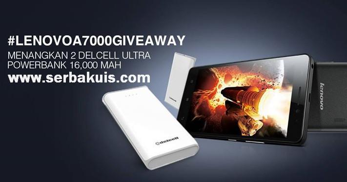 Lazada Giveaway Berhadiah 2 Powerbank Delcell Ultra 16,000 mAh
