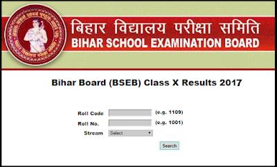 Bihar 10th Result 2017