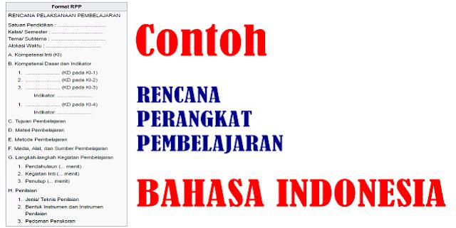 Contoh RPP Bahasa Indonesia Lengkap