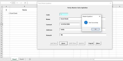 Excel VBA Code Data User form Data Transfer to Sheet
