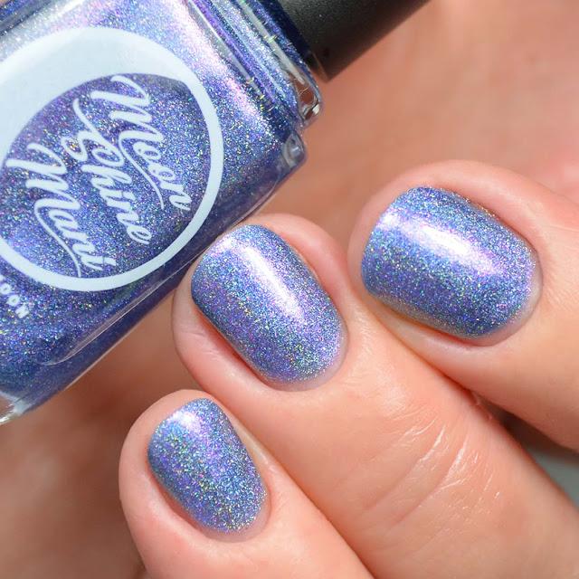 indigo holographic nail polish swatch