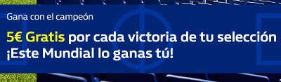 william hill 5€ Gratis por victoria mundial 2018