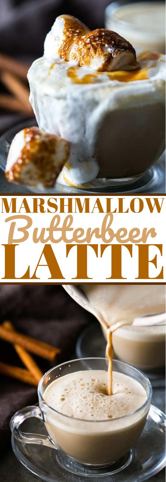 Best Marshmallow Butterbeer Latte #drinks #latte