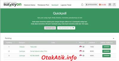 quickpoll surveyon