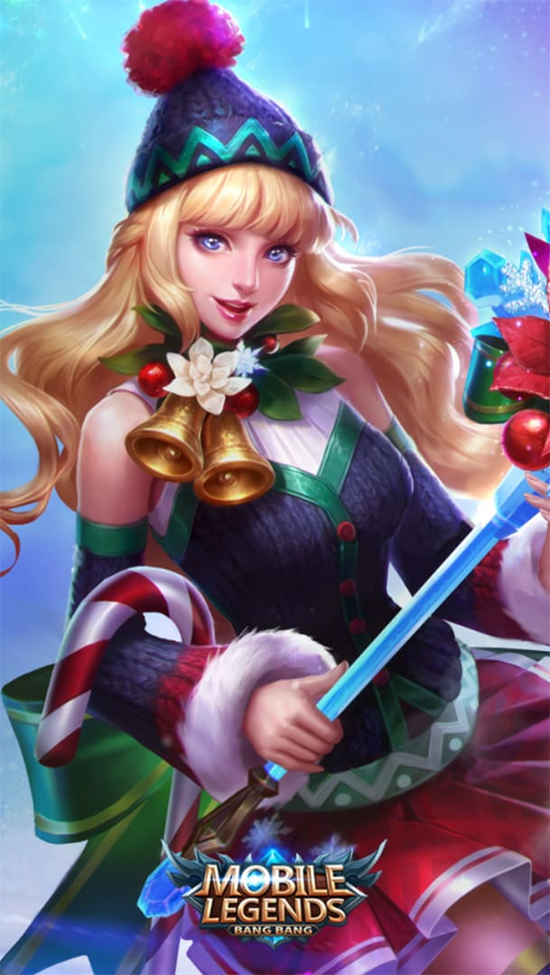 Wallpaper Odette Christmas Carnival Skin Mobile Legends HD for Android and iOS