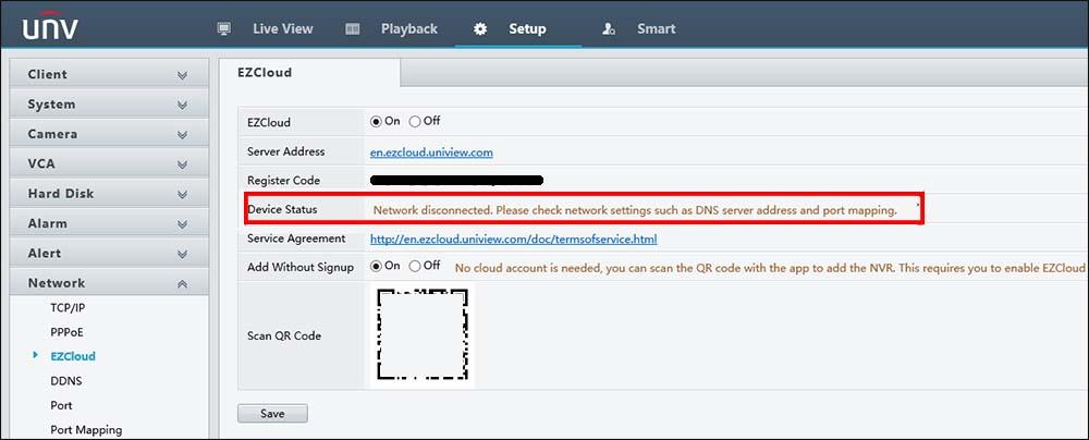 EZCloud Displaying Offline Issue