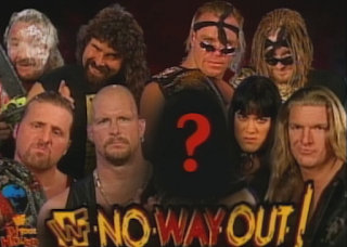 WWE / WWF In Your House 20: No Way Out of Texas - Eight Man main event (the mystery man was Savio Vega)