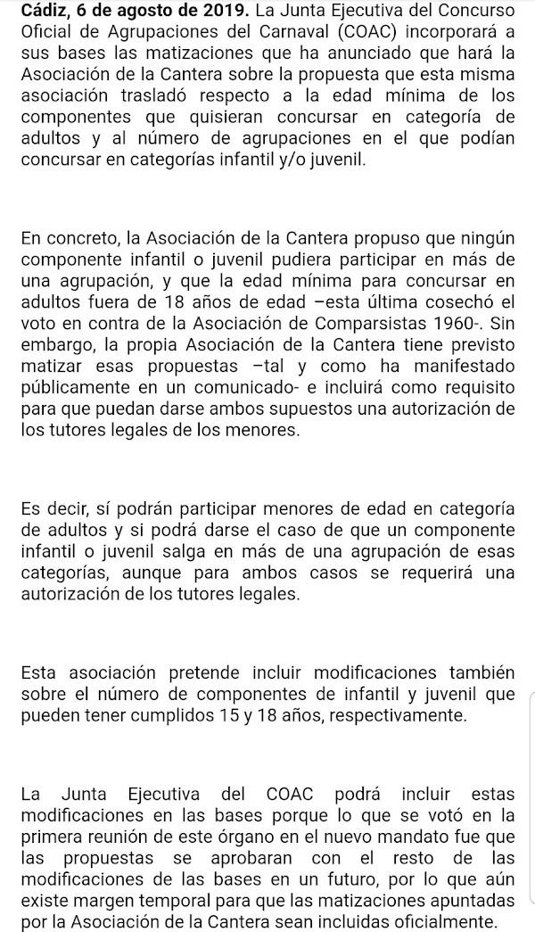 Nota de prensa COAC 2020