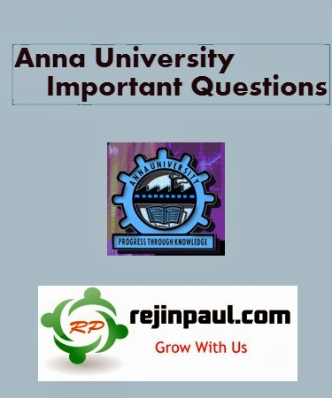 Anna University May June 2016 Important Questions