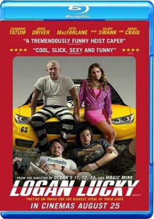 Logan Lucky 2017 BRRip 350MB English 480p ESub Watch Online Full Movie Download bolly4u