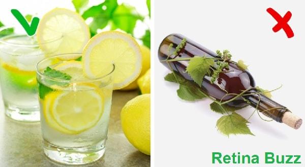 عصير الليمون و النبيذ