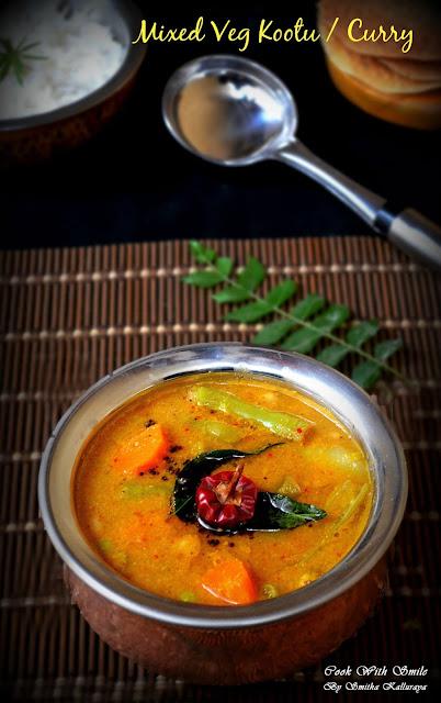 mixed veg kootu recipe,karnataka kootu