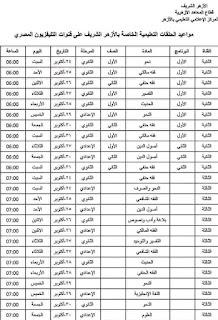 مواعيد الحلقات التعليمية الخاصة بالازهر الشريف على القنوات المصرية