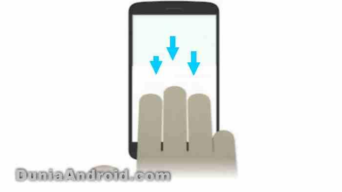 Three finger screenshot OPPO A92