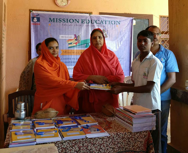 Pune Mission Education Team distributed stationary to 35 Students