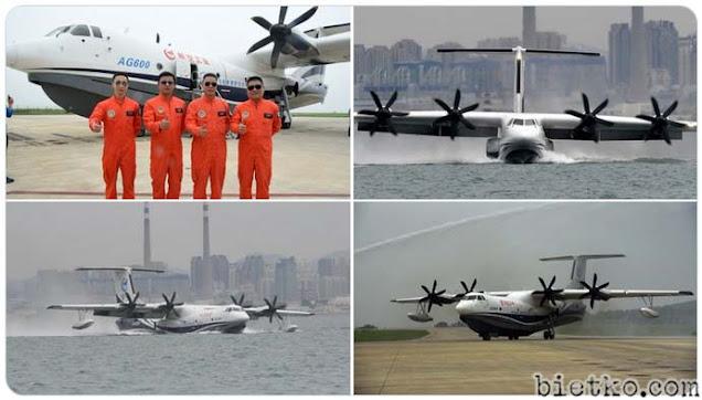 Phi đội bay thử  thủy phi cơ AG600