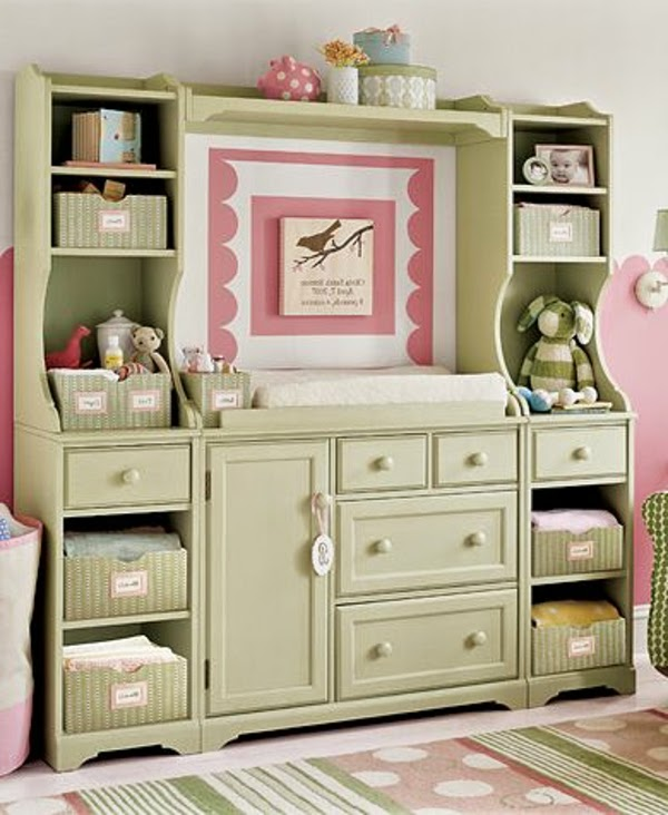 Creative Baby Room Furniture Ideas Bed With Storage Shelves And Drawers